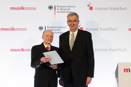 Preisverleihung zur Musikmesse Frankfurt (links: Dieter Schosig) - Award ceremony at the Musik Messe Frankfurt (left: Dieter Schossig)